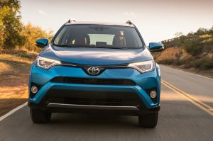 2016-Toyota-Rav4-Hybrid-Limited-front-view-in-motion