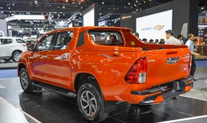 2016-Toyota-Hilux-Revo-TRD-Sportivo-rear-left-quarter-at-2016-BIMS